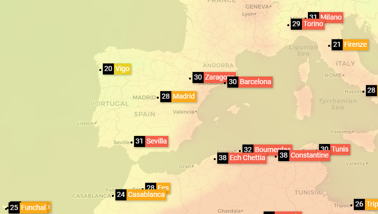 Weather widget's new geolocation and weather map functionality