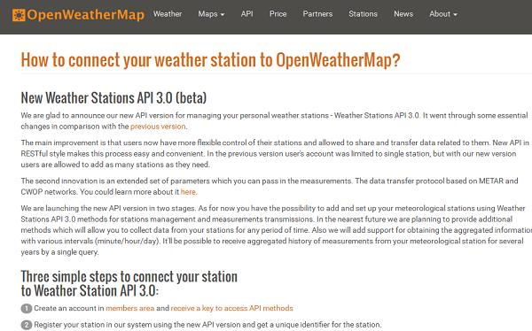 Weather Stations API 3.0